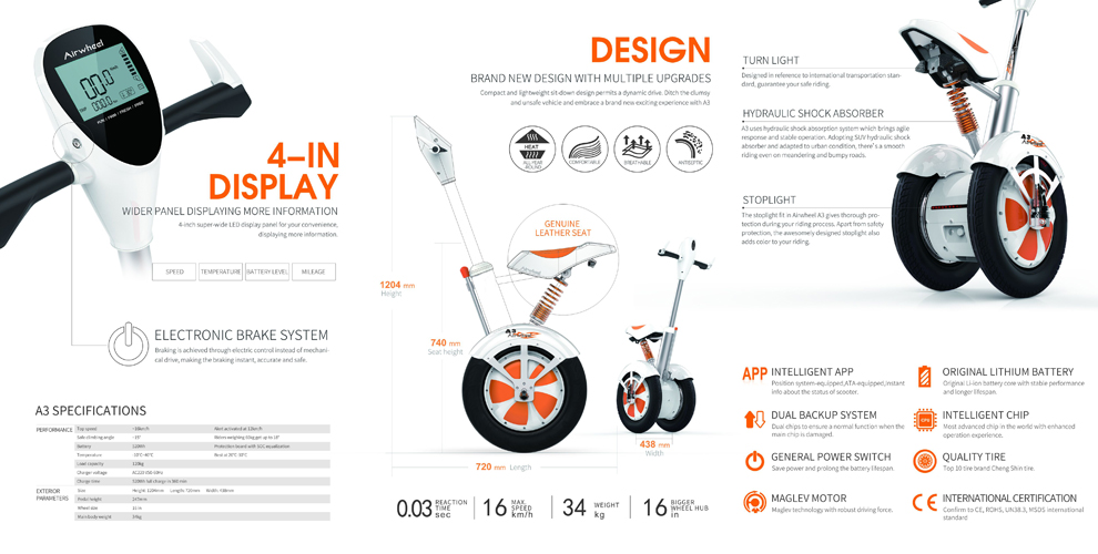 Airwheel A3 | detail produktu